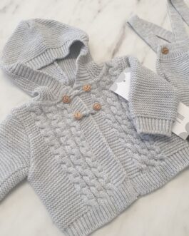 Avery Knitted Dungaree Set
