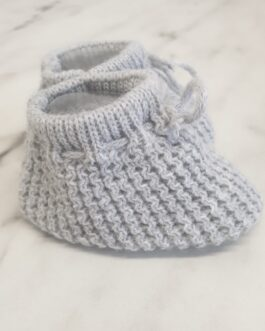 Grey Knitted Booties