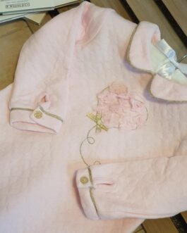 Lottie Heart Quilted Baby Gown