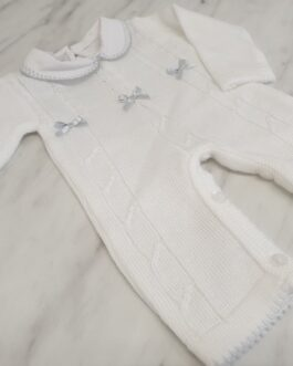 My Little Chick Knitted Bow Baby Gown
