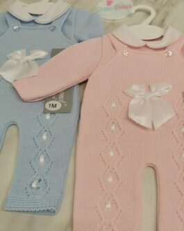 Jemima Knitted Baby Dungaree Set