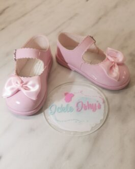 Patent Pink Hard Sole Baby Pods
