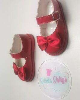 Patent Red Hard Sole Baby Pods