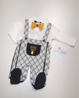 Ronnie Dickiebow Dungaree Gown