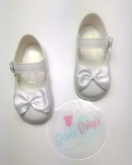 Patent White Hard Sole Baby Pods