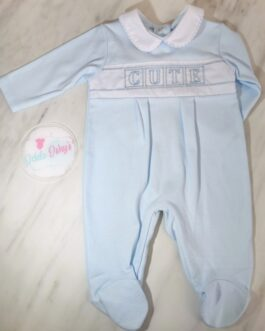 Smocked Cutie Baby Boy Gown